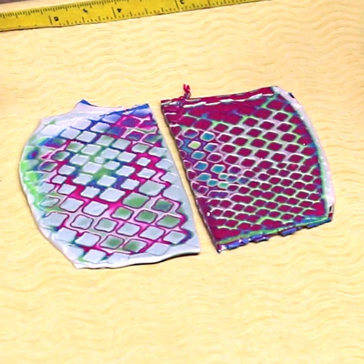 The patterned sheet can be made with anything that creates a textured pattern…