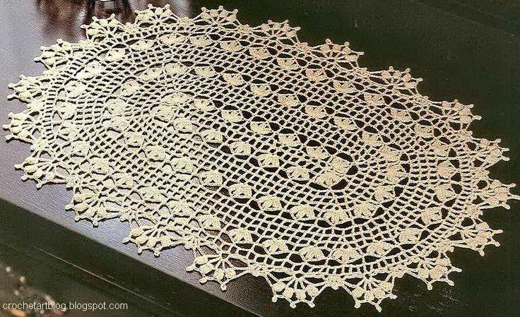 era Crochet Art: Crochet Lace Doily - Beautiful Oval Doily