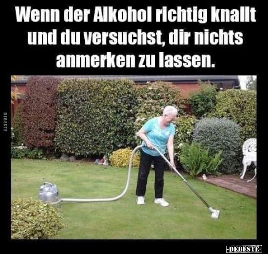 Wenn der Alkohol richtig knallt und du versuchst, dir ...