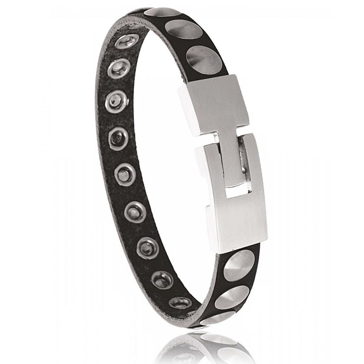 Bracelet noir acier Toscana - Murat Paris