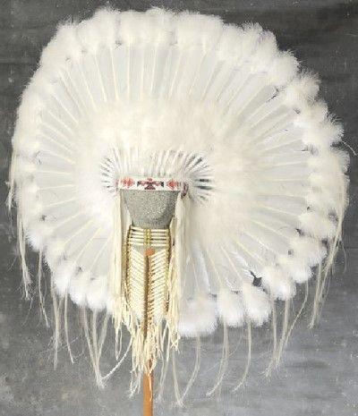 Native American Ceremonial Wedding Bonnet Headdress                                                                                                                                                     More