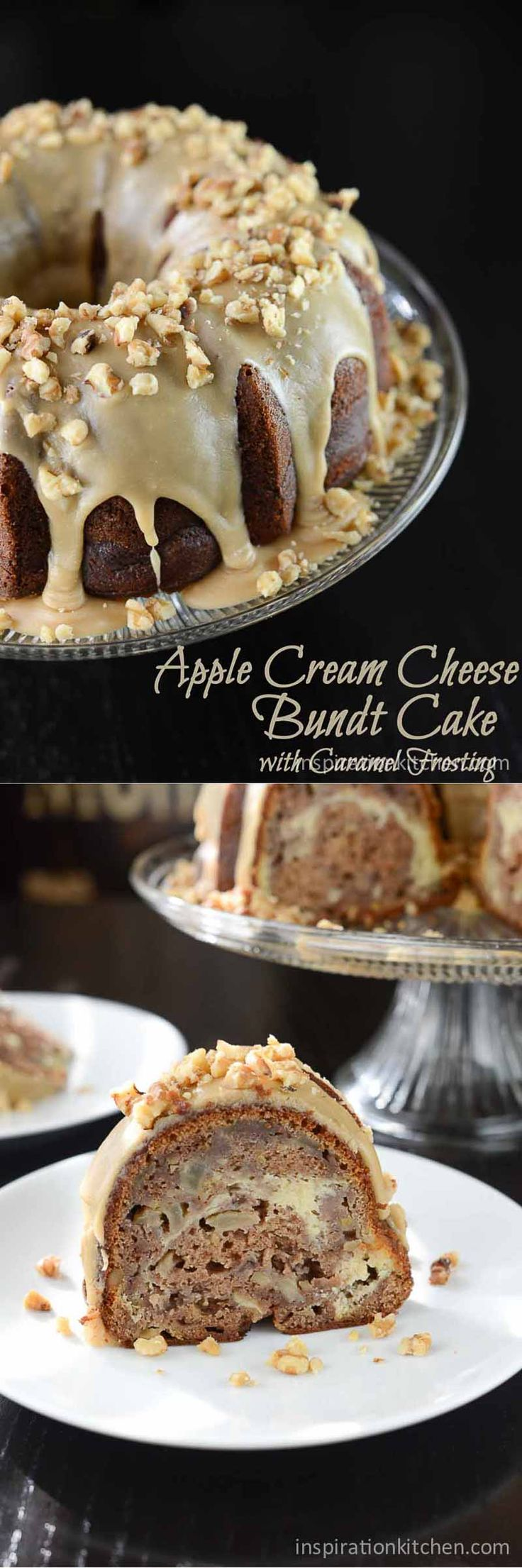 Apple Cream Cheese Bundt Cake Praline Frosting | Inspiration Kitchen