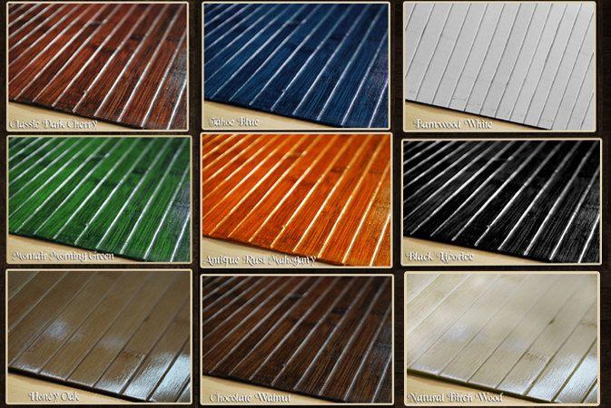 Bamboo Chair Mat Office Floor Mat Hard Wood Floor