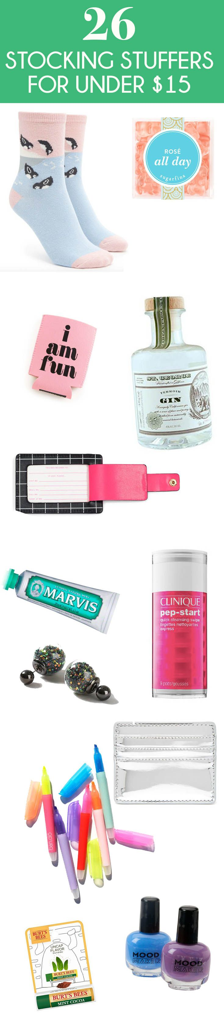 These 26 stocking stuffers for women will make every girl on your list extra happy. The best part? All these gifts are under $15 dollars and super cute.