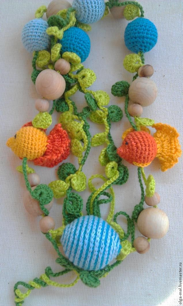 Вяжем разноцветных рыбок - Ярмарка Мастеров - ручная работа, handmade