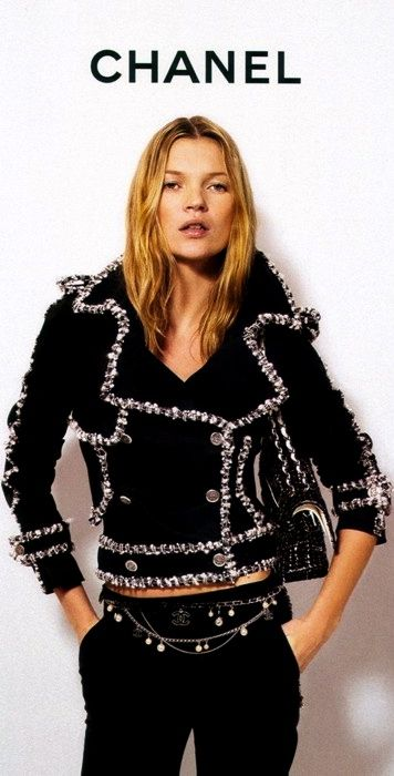 black.quenalbertini: Kate Moss for Chanel Jacket to die for