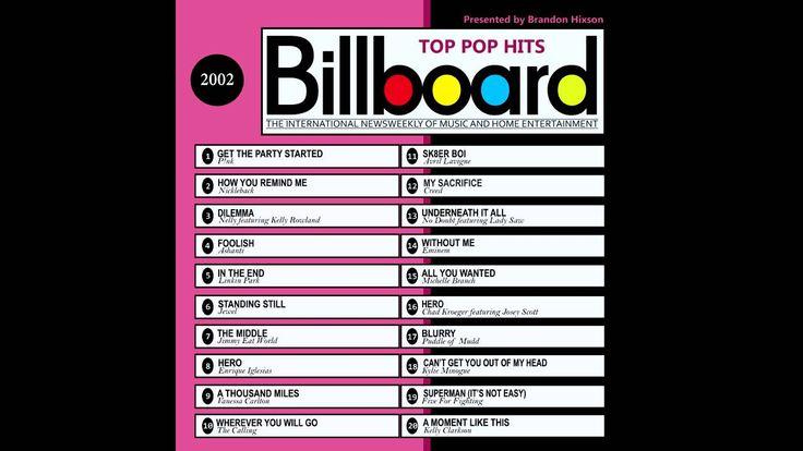 Billboard Top Pop Hits 2002 (2016 Full Album)