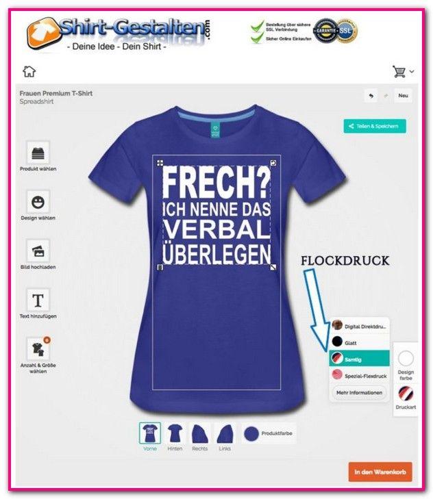 new product 00b07 6bddd T Shirt Beflocken Lassen-Bei JazzyShirt kannst du dein T ...