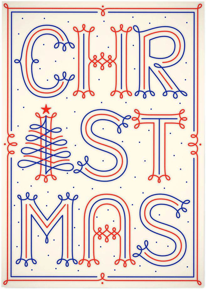 'Christmas' by Martina Flor for lettercollections.com