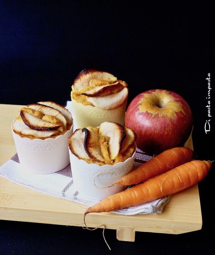 Tortine di carote e mele con farina di farro e nocciole
