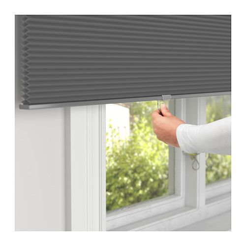 IKEA HOPPVALS cellular blind Can be mounted on the wall or ceiling.