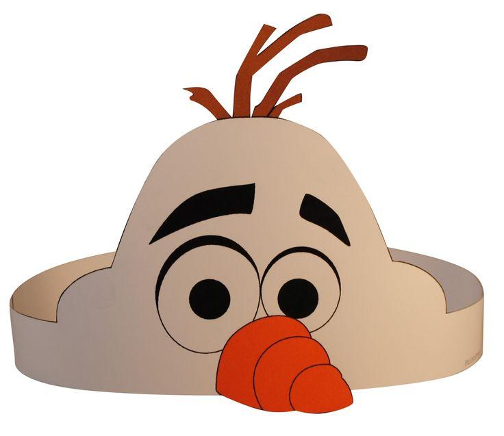 Frozen Olaf hoofdband, diy. http://printpret.nl/Frozen%20feestpakket