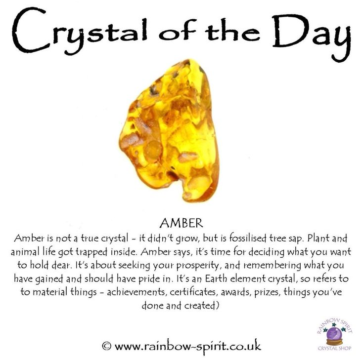 Amber crystal healing properties and correspondences