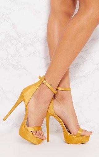 Orange Satin Platform Sandal Pretty Little Thing Cheap Find Great Poi86HU