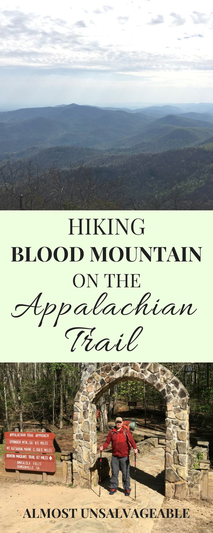Hiking Blood Mountain on the Appalachian Trail #hiking #travel #hikingtips