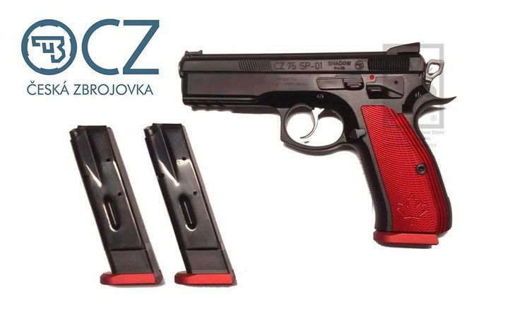 CZ 75 SP-01 Shadow Canadian Special Edition 9mm w/Fiber Optic Sight #P | Al Flaherty's Outdoor Store
