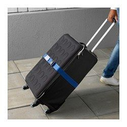 IKEA - VINTER 2017, Luggage straps, The small buckle allows you to tighten the strap securely around the suitcase.You can easily label the luggage strap with your name and telephone number by inserting a card into the plastic pocket.You can easily adjust the length of the luggage strap from 47 to 81 cm.