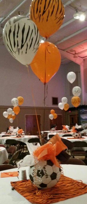 Soccer banquet using paper lanterns