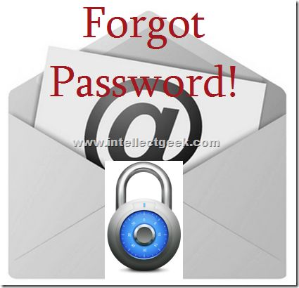 Forgot Email Id Password? What next to do?