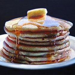 Hyper-realistic food paintings by Mary Ellen Johnson