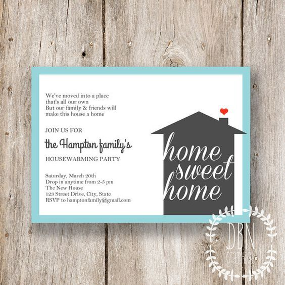 DIY TEMPLATE /// Instant Download /// Home Sweet Home /// Housewarming Invitations /// by DBNGraphics, $12.00: