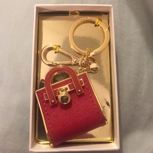 Price Firm NWT Michael Kors Red Handbag Keychain❤️ NWT, Michael Kors Keychain. Michael Kors Accessories