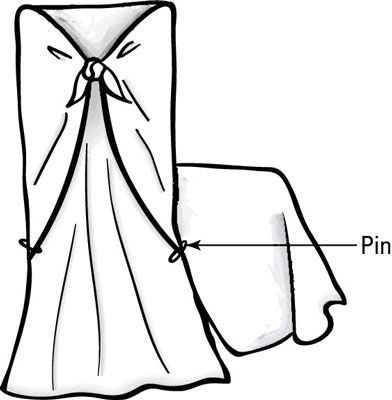 No-sew slip-covers for dining room chairs