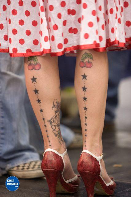 Cherries and stars ~ rockabilly tattoos