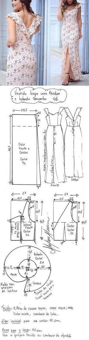 241 best patrones de costura images on Pinterest | Modeling, Sewing ...