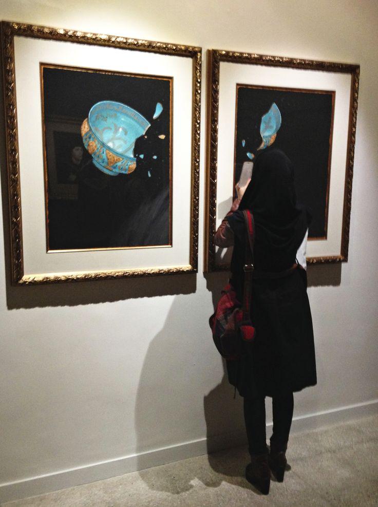 Aydin Aghdashloo at the Assar Gallery in Tehran, December 2014