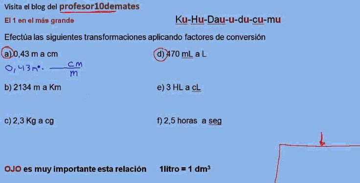 Cambio de unidades por factores de conversión 07 ejercicio resuelto 1a