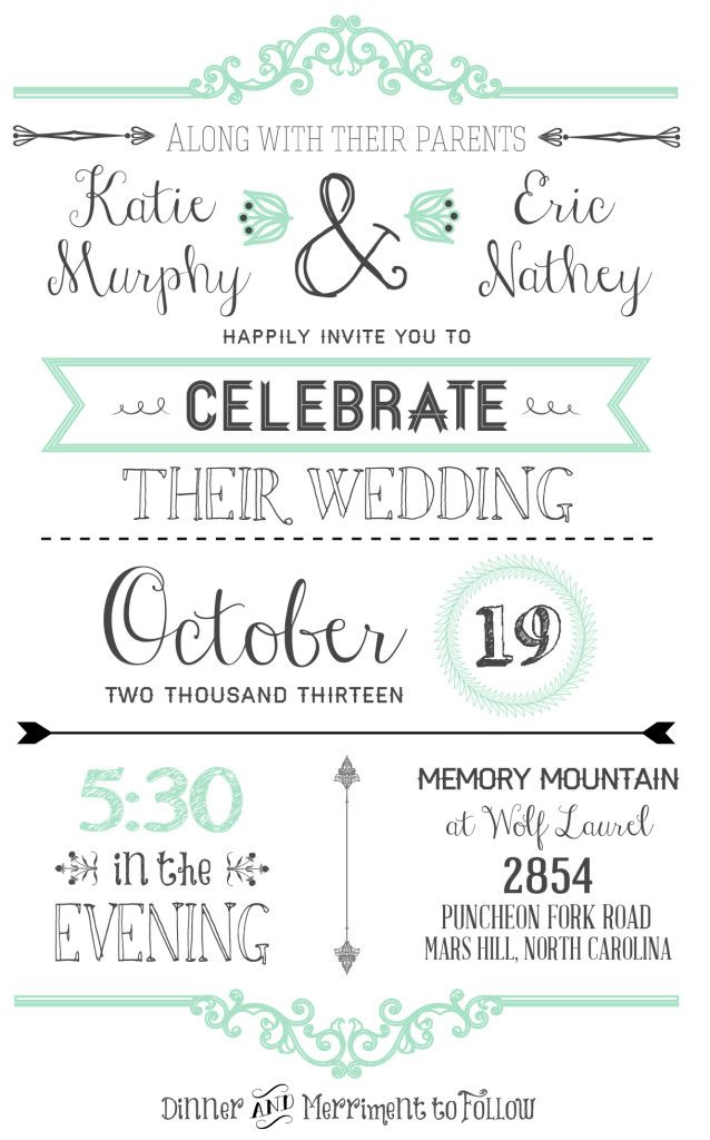 10 Free Wedding Invitation Printables - Upcycled Treasures