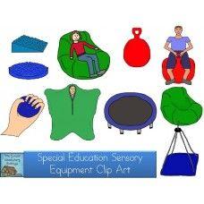 Sensory Equipment Clip Art by Lisa Parnello.