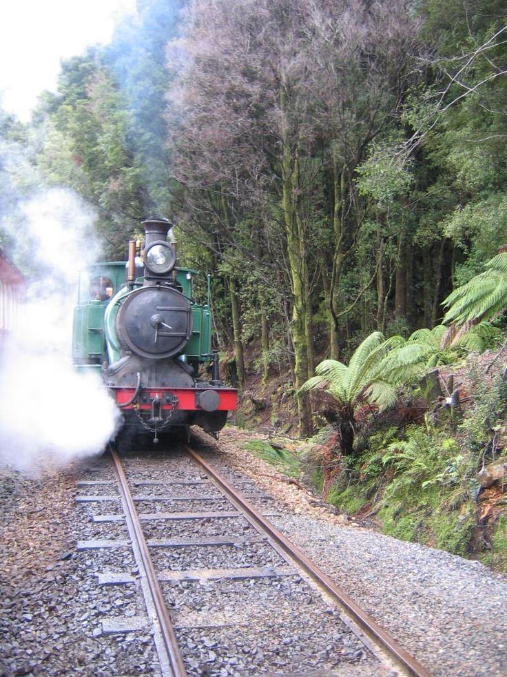 On the ABT train, Strahan Tasmania