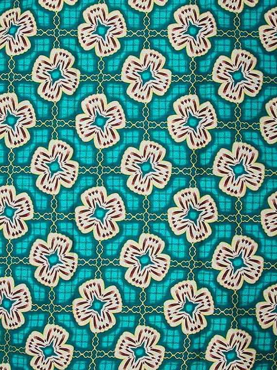 Wax Print Super Woodin African Fabric 6 Yards by Africanpremier, $24.99
