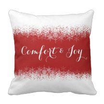 Christmas Throw Pillow - Comfort & Joy