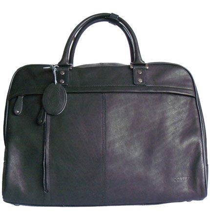 Men's/Women's Cortez Black Leather Holdall/Travel Bag