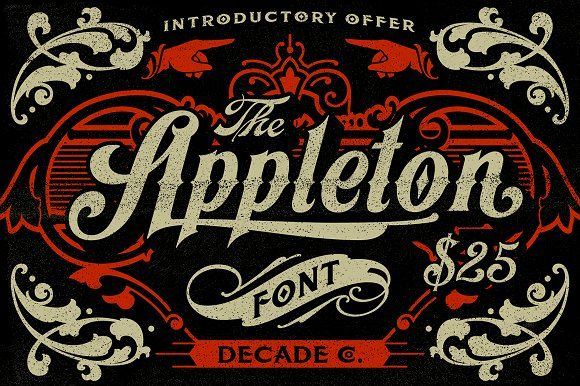 Appleton Font + Poster by Decade Type Foundry on @creativemarket