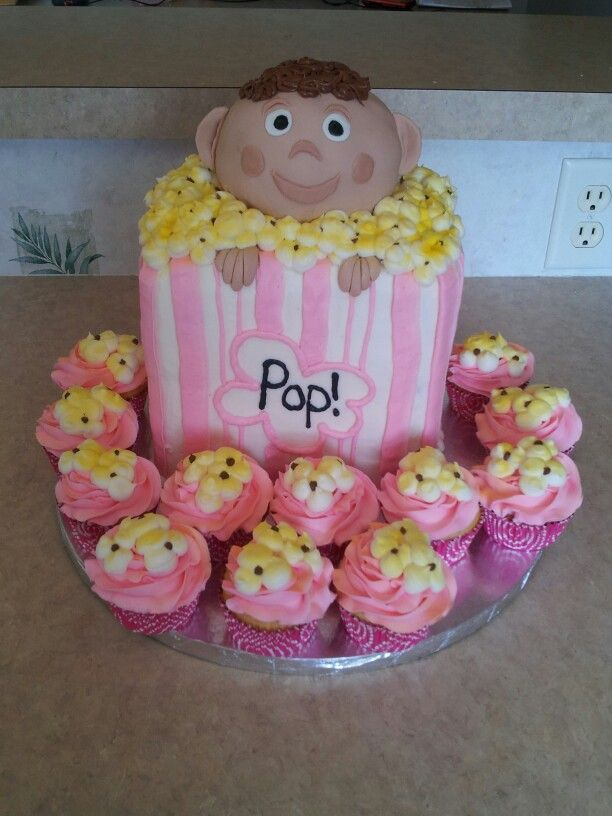 popcorn baby shower cake cakes baby shower pinterest