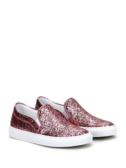 L'AUTRE CHOSE - Sneakers - Donna - Sneaker in glitter con inserti elasticizzati su ambo i lati e suola in gomma. Tacco 30. - ROSA