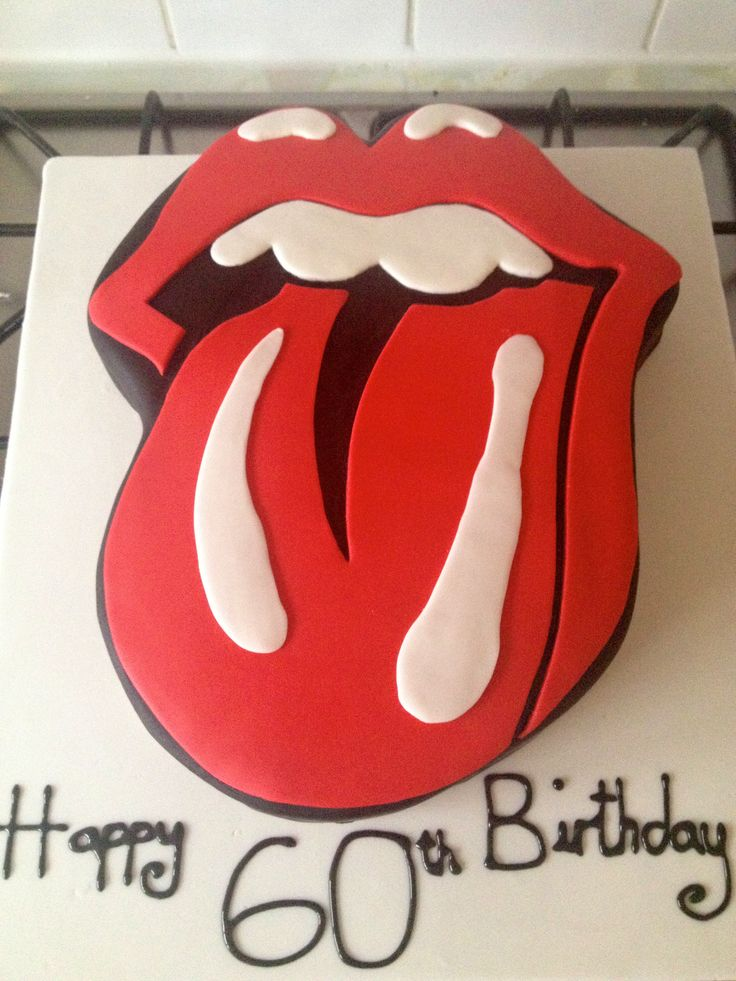 Rolling Stones Themed Cake