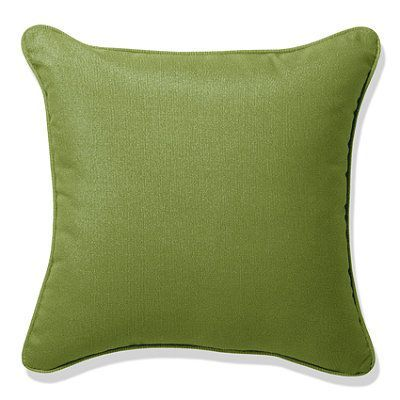 """Outdoor Square Pillow With Piping - Sailcloth Air Blue, Special Order, 20"""" X 20"""" - Frontgate"""