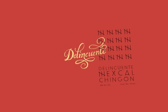 Delincuente Mezcal branding and packaging