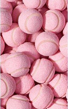 Bolas de tênis rosa são lindas!