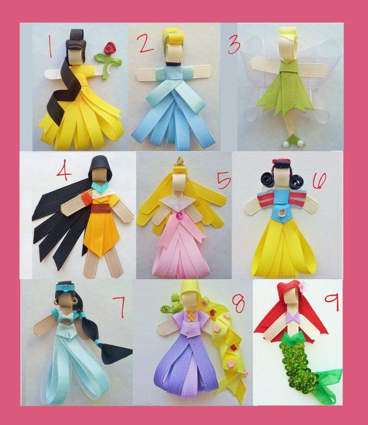 Disney Inspired Princess Ribbon Sculpture by ohdanigirlboutique