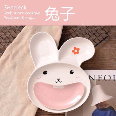 Экспорт керамической посуды детского здоровья обезьяны кролика правили выпечки блюдо фрукты запеченный сыр раздаточного стола