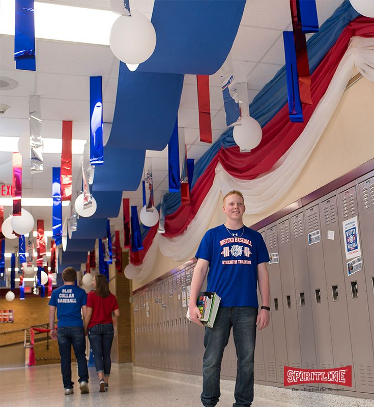 Go all out for your homecoming decorations, pep rally decorations, or even senior night decorations! Decorate the entire school with your school colors and personalized signs!