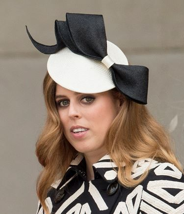 Princess Beatrice, June 10, 2016 in Sarah Cant. She got panned by critics for the dress (which I also thought was a little too busy), but I ADORE this hat!