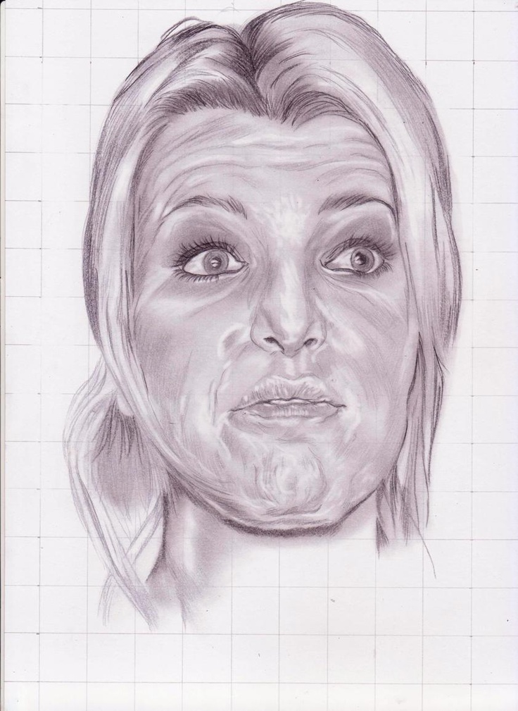 sketsa wajah dengan ekspresi unik jessica simphson