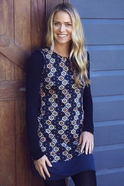 Stretch Sixties Tunic Bundi Navy